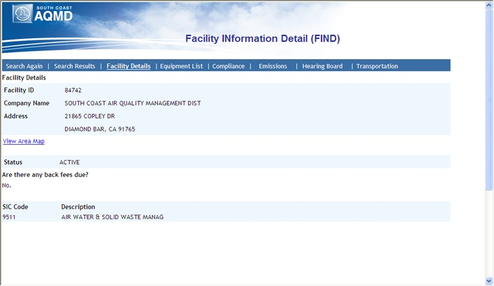 Facility INformation Detail (FIND)