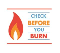 Check Before You Burn logo