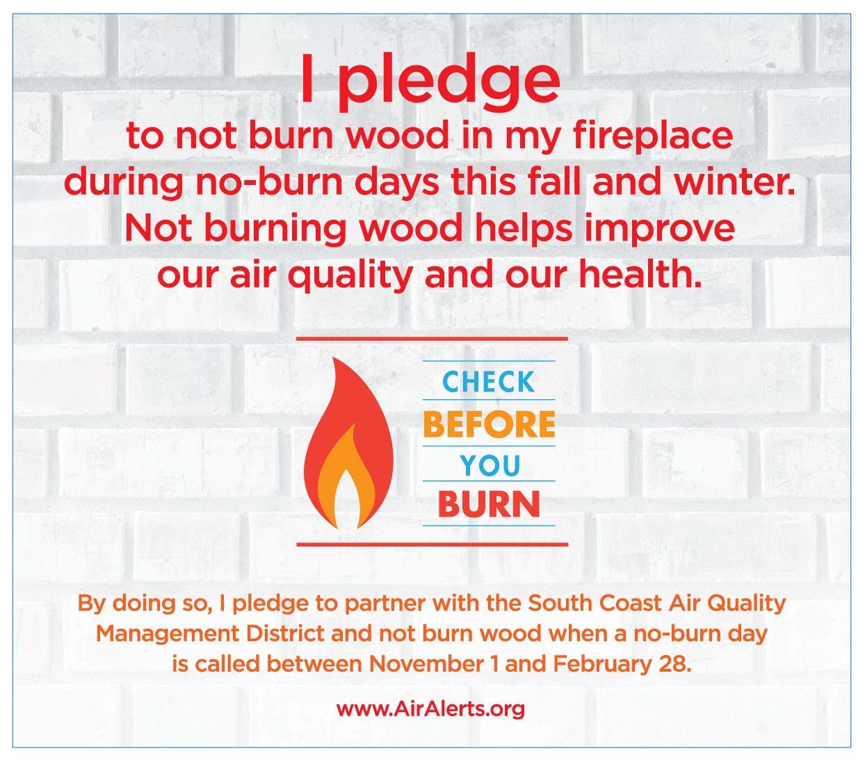 Check Before You Burn pledge banner
